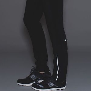 Lululemon Windrunner Pants Black and Navy Blue 4
